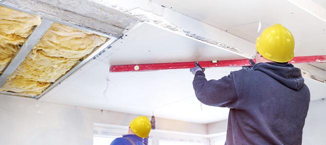 Pose de plafond en placo - isolation à Tourcoing
