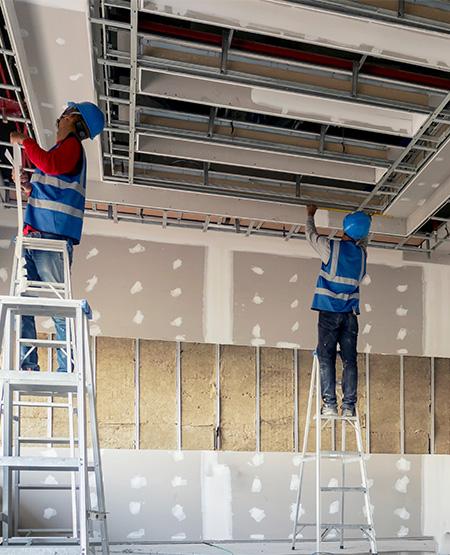 Plafonds et cloisons - Entreprise de bâtiment près de Lille